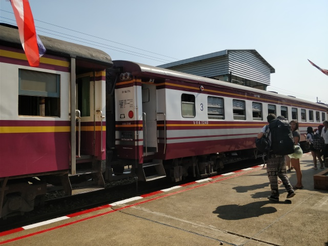 The train to Kanchanaburi.