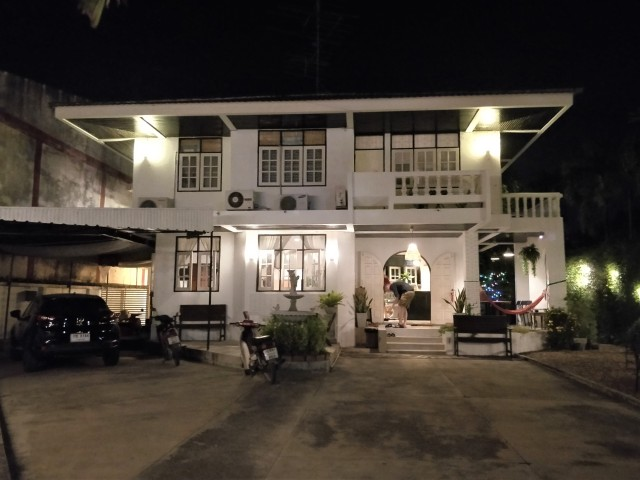 No. 25 Hostel & Cafe at night. Kanchanaburi.