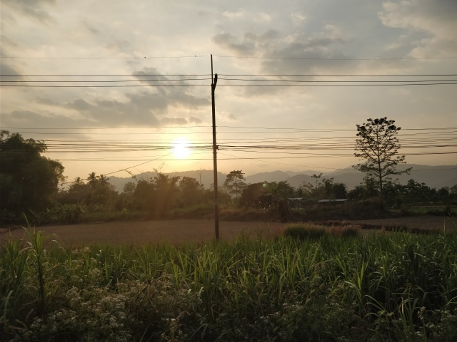 Kamphaeng Phet sunset.