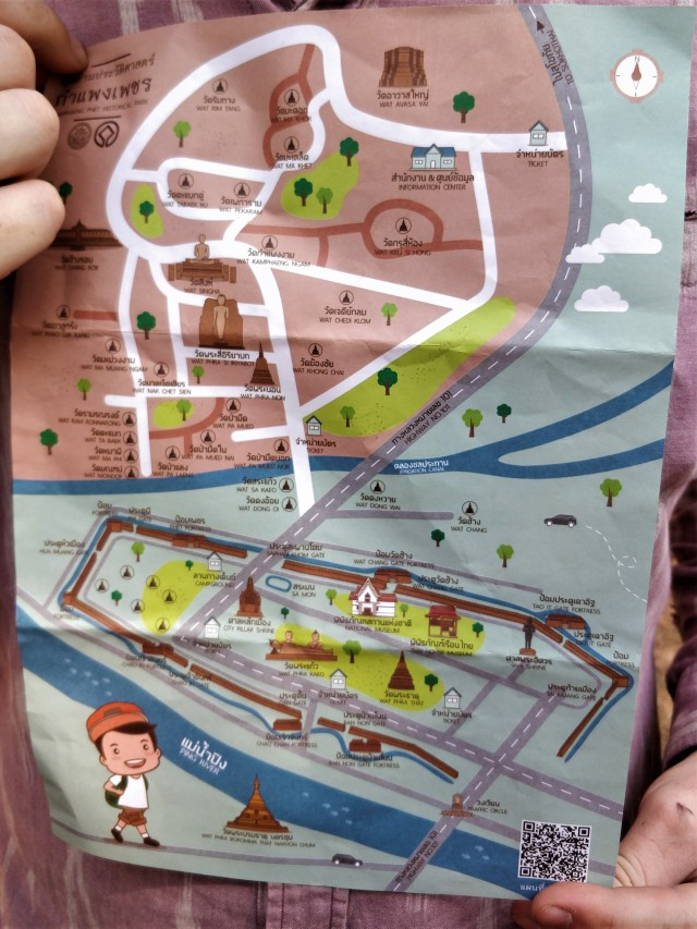 UNESCO Kamphaeng Phet Historical Park map.